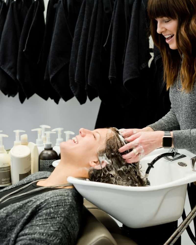 purple shampoo on brown brassy hair