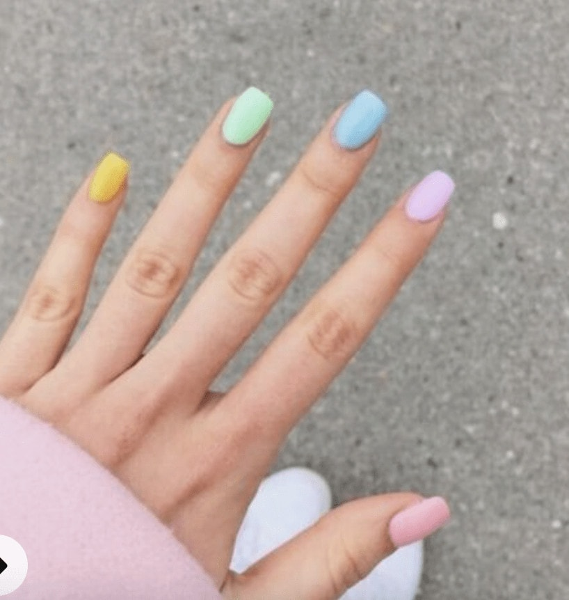 spring nails acrylic