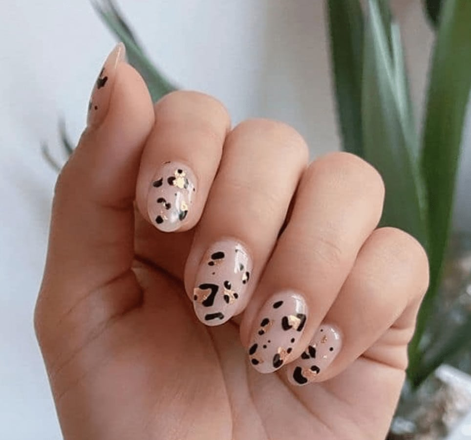 animal print nails for summer