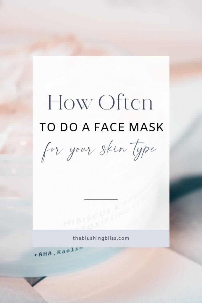 when to use face mask in routine