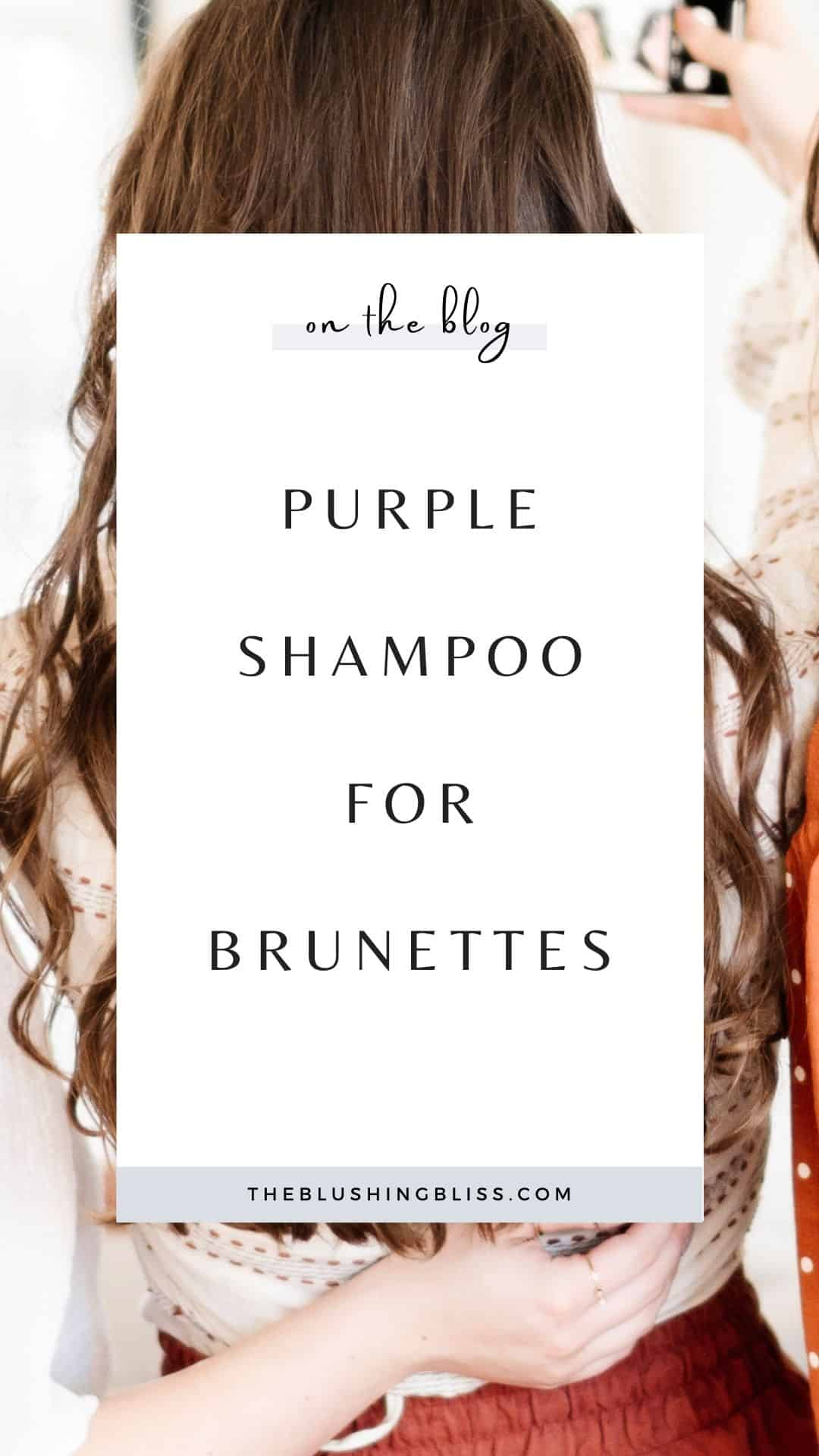does purple shampoo do anything to brown hair?