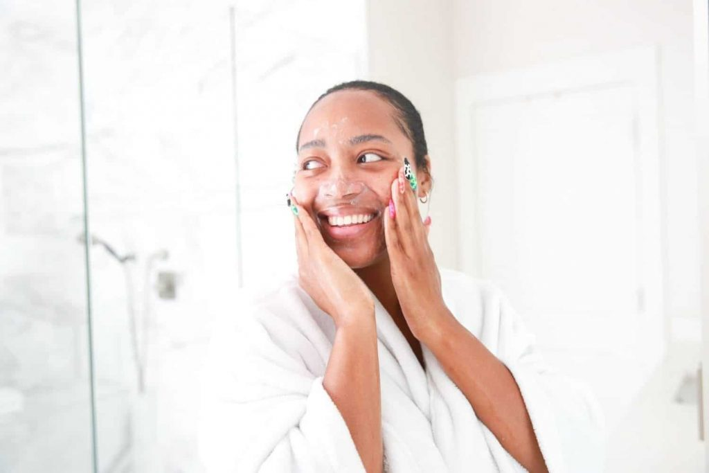 why should you not wash your face in the morning