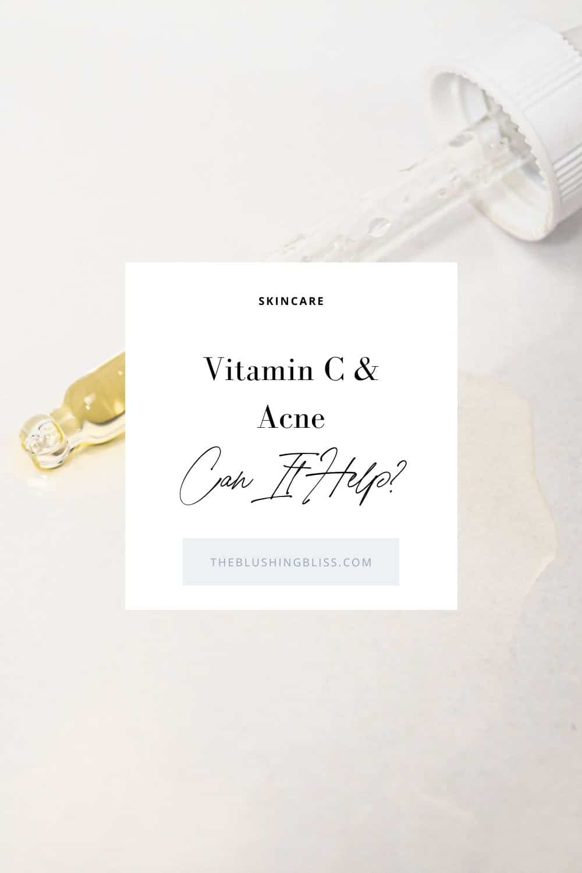 does vitamin c serum help acne marks